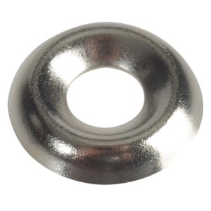 Screw Cup Washers Nickle Plated No.8 Forge Pack 20