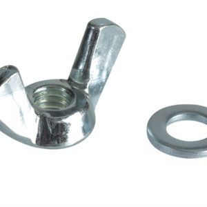 Wing Nut & Washers ZP M6 Forge Pack 10
