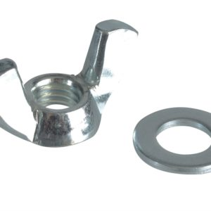 Wing Nut & Washers ZP M8 Forge Pack 8