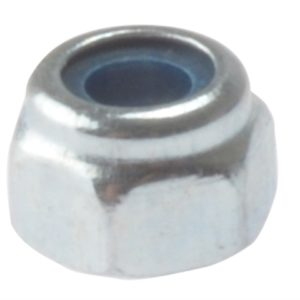 Hexagon Nut & Nylon Insert ZP M4 Bag 100