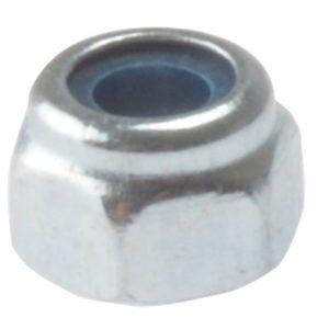 Hexagon Nut & Nylon Insert ZP M8 Bag 100