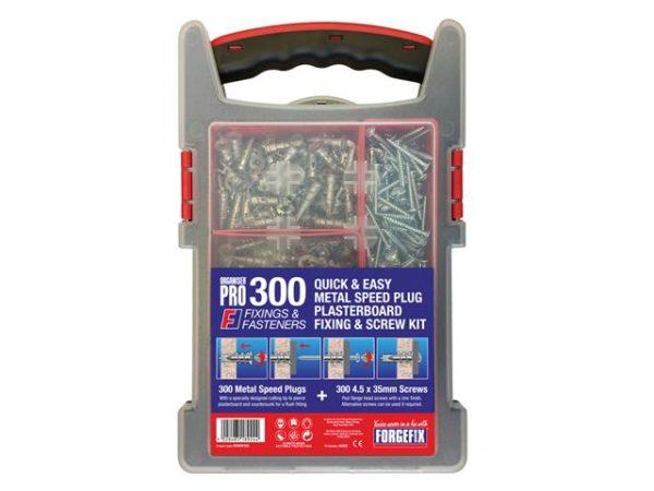 Speed Plug Zinc Plasterboard Fixing Kit 300 Piece