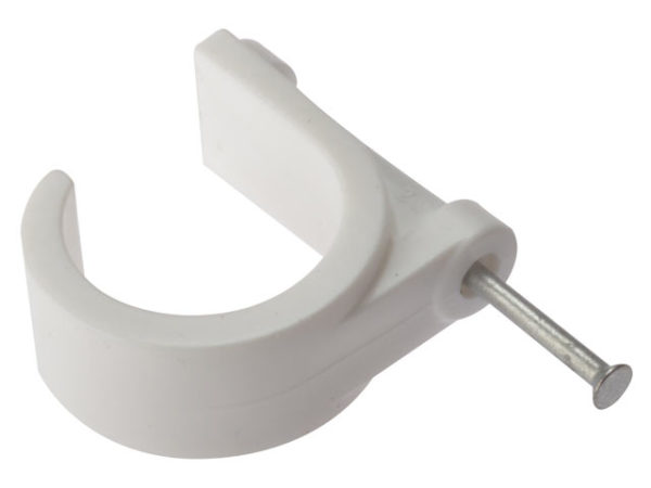 Pipe Clip with Masonry Nail 28mm Box 100
