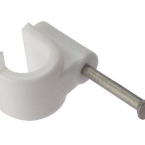 Pipe Clips with Masonry Nail 9mm Box 100