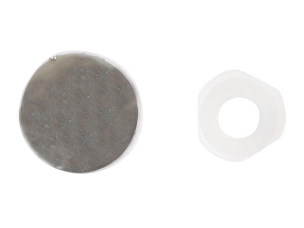 Domed Cover Cap Chrome Coloured No. 6-8 Bag 25