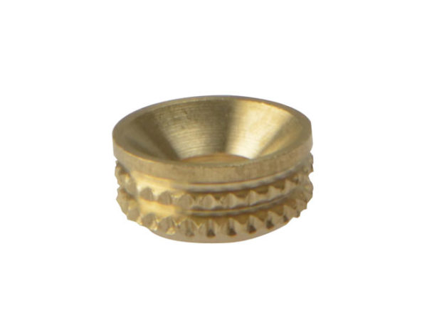 Screw Cup Sockets Solid Brass Polished No. 8 Bag 100