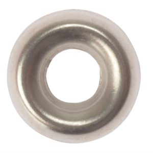 Screw Cup Washers Solid Brass Nickel Plated No.6 Bag 200