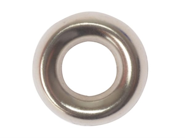 Screw Cup Washers Solid Brass Nickel Plated No.8 Bag 200