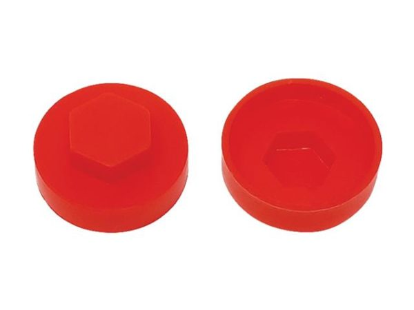 TechFast Cover Cap Poppy Red 16mm (Pack 100)