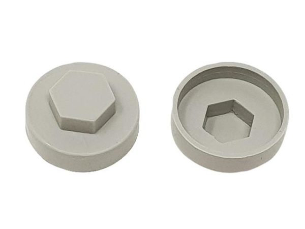 TechFast Cover Cap Goosewing Grey 19mm (Pack 100)