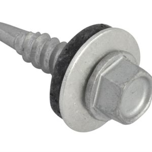 TechFast Hex Head Roofing Screw Self-Drill Light Section 5.5 x 25mm Pack 100