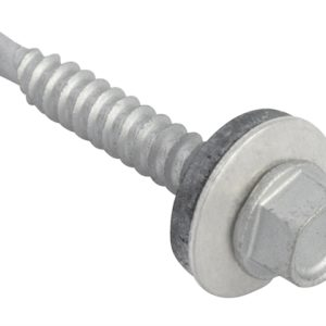 TechFast Hex Head Roofing Screw Self-Drill Light Section 5.5 x 38mm Pack 100