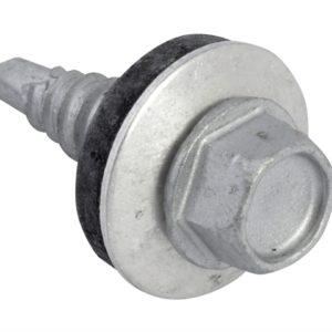 TechFast Hex Head Stitching Screw Self-Drill 6.3 x 22mm Pack 100