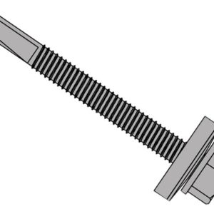 TechFast Roofing Sheet to Steel Hex Screw & Washer No.5 Tip 5.5 x 32mm Box 100