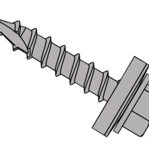 TechFast Metal Roofing to Timber Hex Screw T17 Gash Point 6.3 x 32mm Box 100