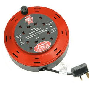 Cable Reel 240 Volt 10 Metre 10 Amp 4 Socket