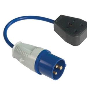Fly Lead 240 Volt 3 Pin Plug to 240v 3 Pin Socket & 35cm Lead