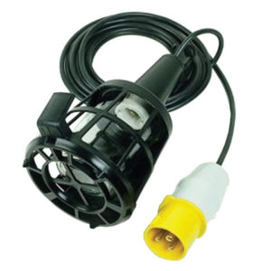 Plastic Inspection Lamp (Bulb Not Included) & 3m Cable 240V