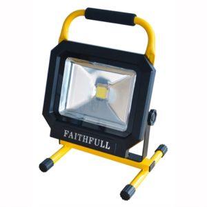COB LED Single Pod Tripod Sitelight 30W 2100 Lumens 110V