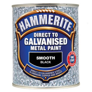 Direct to Galvanised Metal Paint Black 750ml