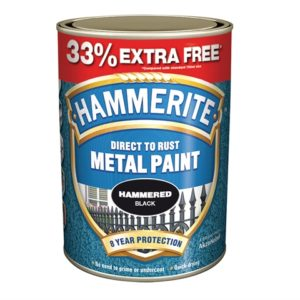Direct to Rust Hammered Finish Metal Paint Black 750ml + 33%
