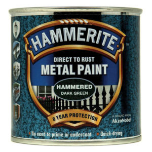 Direct to Rust Hammered Finish Metal Paint Dark Green 250ml