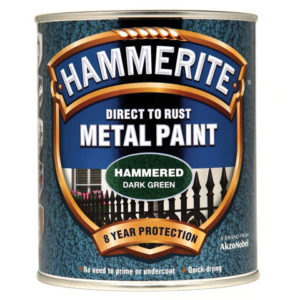 Direct to Rust Hammered Finish Metal Paint Dark Green 750ml