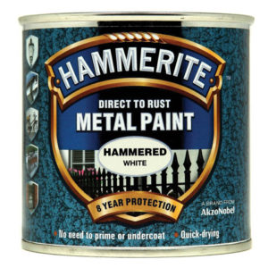 Direct to Rust Hammered Finish Metal Paint White 250ml