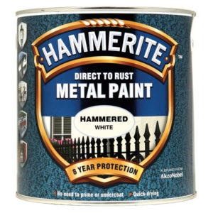 Direct to Rust Hammered Finish Metal Paint White 2.5 Litre