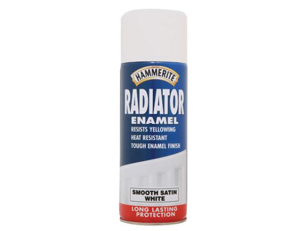 Radiator Enamel Aerosol Satin White 400ml