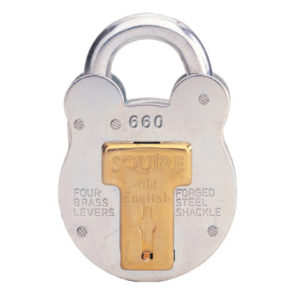 660KA Old English Padlock with Steel Case 64mm Keyed