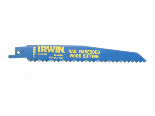 656R 150mm Sabre Saw Blade Nail Embedded Wood Cut Pack of 5