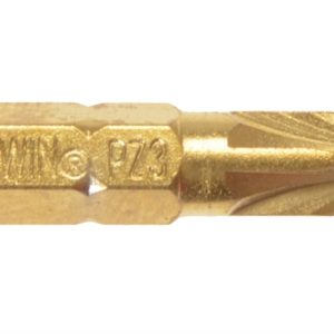 Screwdriver Bits Pozi PZ3 25mm Titanium Pack of 10