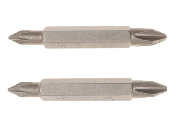 Screwdriver Bits PZ2 / PZ2 Double Ended 50mm Pack of 2