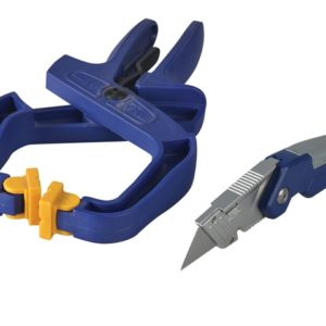 Folding Knife + 4in Handy Clamp Twin Pack