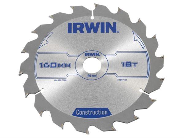 Construction Circular Saw Blade 160 x 20mm x 18T ATB
