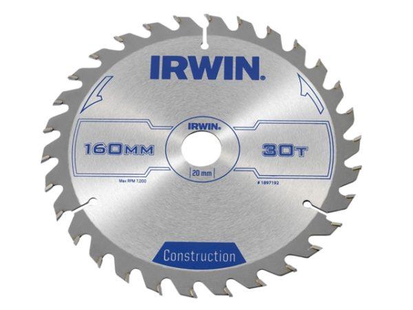 Construction Circular Saw Blade 160 x 20mm x 30T ATB