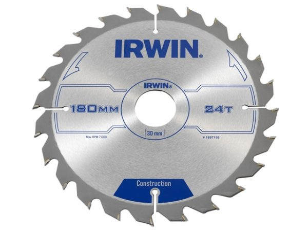 Construction Circular Saw Blade 180 x 30mm x 24T ATB