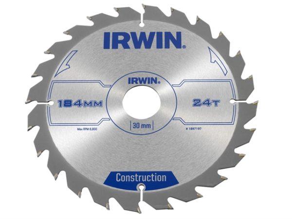 Construction Circular Saw Blade 184 x 30mm x 24T ATB