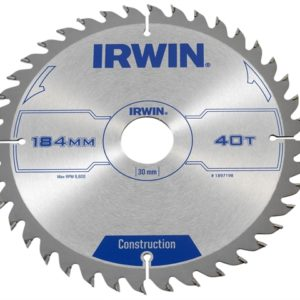 Construction Circular Saw Blade 184 x 30mm x 40T ATB