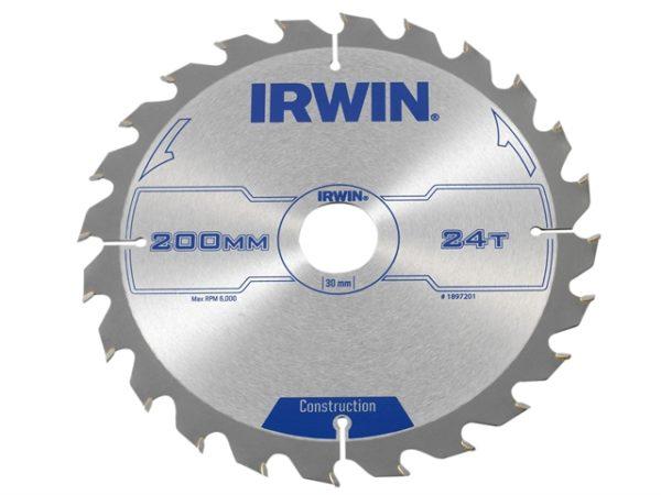Construction Circular Saw Blade 200 x 30mm x 24T ATB