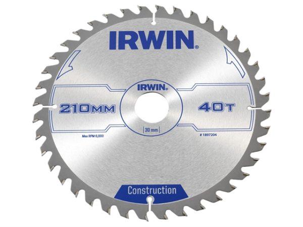 Construction Circular Saw Blade 210 x 30mm x 40T ATB