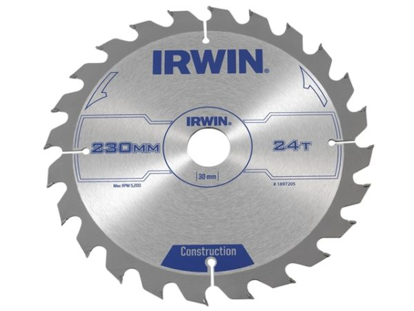 Construction Circular Saw Blade 230 x 30mm x 24T ATB