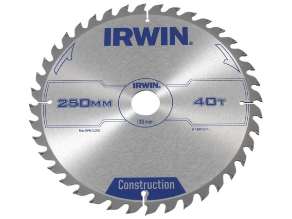 General Purpose Table & Mitre Saw Blade 250 x 30mm x 40T ATB