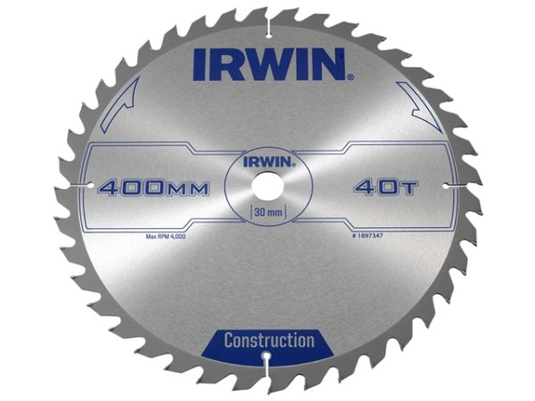 General Purpose Table & Mitre Saw Blade 400 x 30mm x 40T ATB