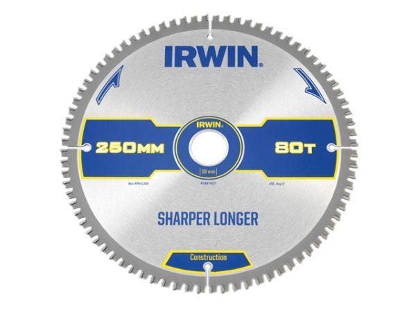 Construction Mitre Circular Saw Blade 250 x 30mm x 80T ATB/Neg
