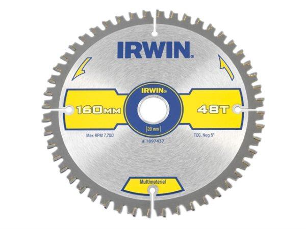 Multi Material Circular Saw Blade 160 x 20mm x 48T TCG/Neg