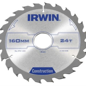 Construction Circular Saw Blade 160 x 30mm x 24T ATB