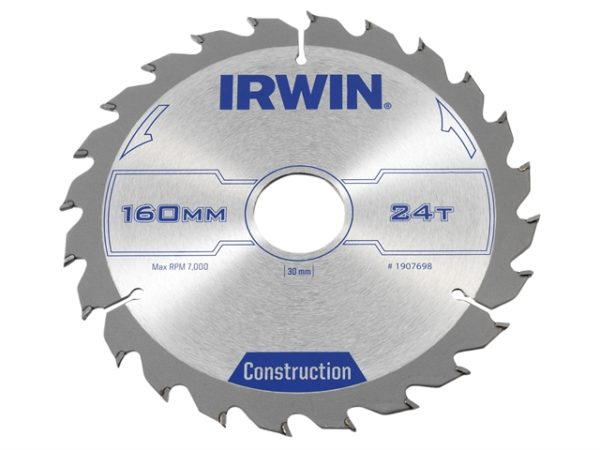 Construction Circular Saw Blade 160 x 30mm x 24T ATB
