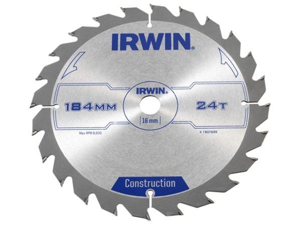 Construction Circular Saw Blade 184 x 16mm x 24T ATB